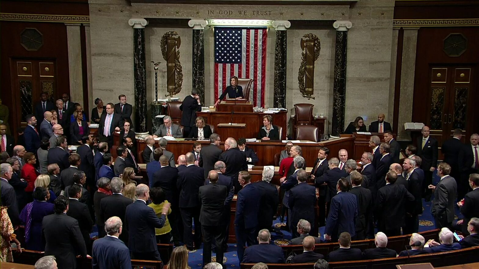 Das Repräsentantenhaus stimmt für Donald Trumps Impeachment
